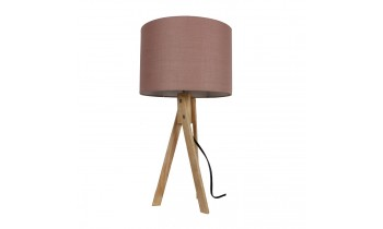 LILA STOLNA LAMPA TYP 3 LS2002 TAUPE+DREVO NATURAL